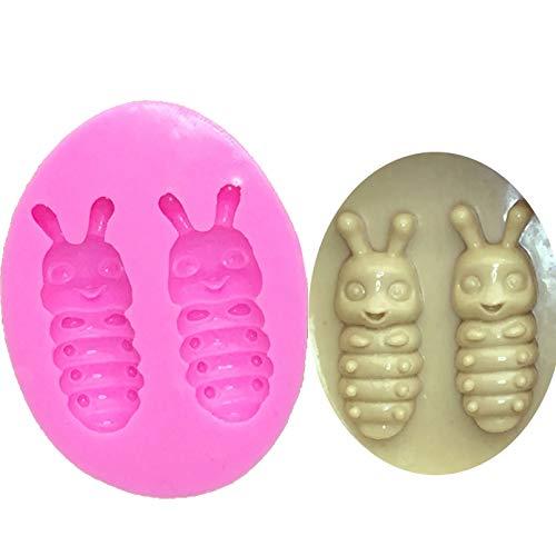 CSCZL Mini Insecto de Silicona Fondant Molde 3D Herramientas de decoración de Pasteles Jelly Candy Chocolate decoración Herramienta para Hornear