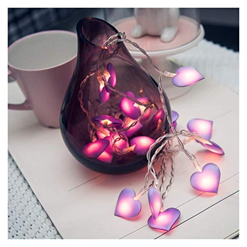 String Lights 1.5M/3M/6M Romantic LED Love Heart String Lights for Xmas Garland Party Wedding Decoration Christmas Holiday Fairy Lights (Emitting Color : Pink)