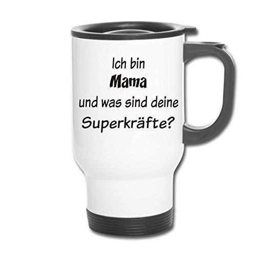RVS Thermische Mok Thermo Mok Koffiemok Latte Cup Ich Bin Moeder en Wat Zijn Deine Superkräfte?