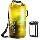 OutdoorMaster Dry Bag- 5L/10L/20L Stylisher Leichter Trockensack mit 2 freie wasserdichte Handybeutel- wasserdichte Tasche für Schwimmen, Bootfahren, Angeln & Snowboarden(10L)
