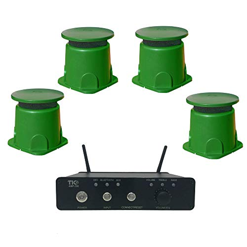 TIC Outdoor WiFi/Bluetooth Amplifier & Speaker Bundle (AMP100 & 4 GS3)