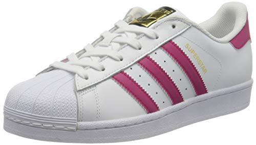 adidas Originals Herren Adidas Superstar J Foundation B23644 Low-Top, Weiß (FTWR White/Bold Pink/FTWR White), 37 1/3 EU