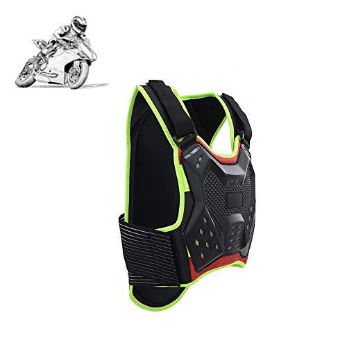 TZTED Wirbelsäule Brustpanzer Schutzausrüstung Motorrad Brust Rüstung Rückenprotektor Motocross Rennsport Weste für Skifahren Reiten Skateboarding,Grün,M