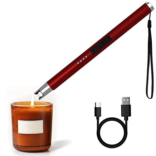 HOTERB Encendedor Electrico,Encendedor Velas con Acollador Correa Mechero Cocina Electrico USB-C Chargeable,Sin...