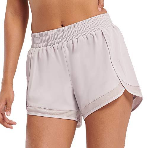 Pantalones cortos deportivos para mujer, de secado rápido, para correr, yoga, atlético -  Morado -  XL