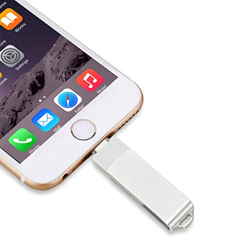 USB 3.0 Flash Drives para iPhone, 3 en 1 OTG Jump Drive, Externo Micro USB Memory Storage Pen Drive para iPad, iOS, Android, PC (256.00GB)