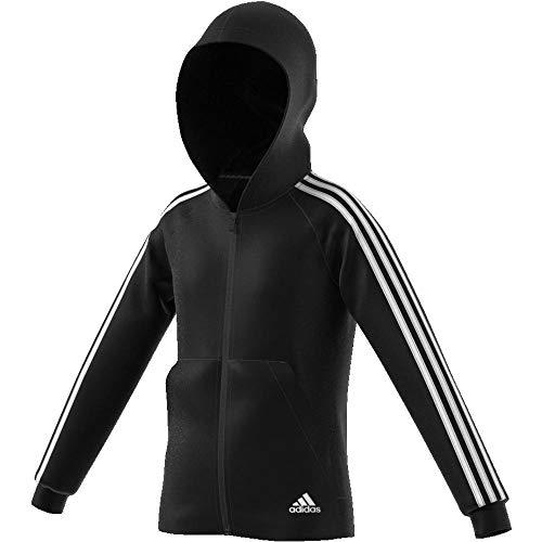 adidas Mädchen Must Haves 3-Streifen Kapuzenjacke, Black/White, 152