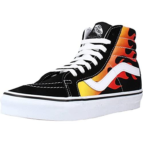 Vans Sk8-hi Reissue Sneaker Herren Schwarz/Flamme - 40 1/2 - Sneaker High Shoes