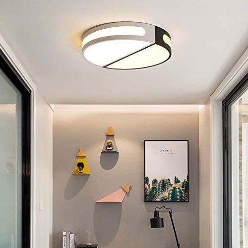 Duurzame 24 W LED Plafond Licht Creatieve Persoonlijkheid Woonkamer Slaapkamer Studie Decoratie Plafond Lamp Moderne Minimalistische Ronde Wit + Zwart Acryl Ijzer Metaal Interieur Verlichting 42 * 8cm Verlichting Leven