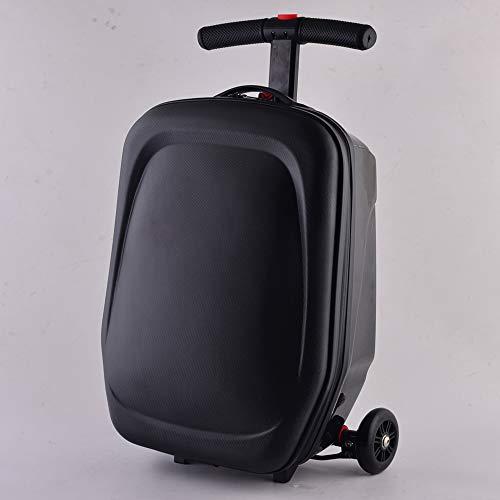 GNMM Männer Koffer, Frauen-Trolley-Koffer, Multifunktions-Skateboard Koffer Mit Universalrad, TAS Kombinationsschloss, Schwarz