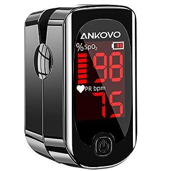 Pulse Oximeter Fingertip Blood Oxygen Saturation Monitor,Blood Oxygen Saturation Monitor with Pulse Rate Upgrade Pulse Oximeter with Lanyard and 2 Batteries
