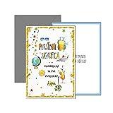 ARKRAFT biglietto auguri pensione con la scritta in oro e rilievo 12 x 17 cm (P4)