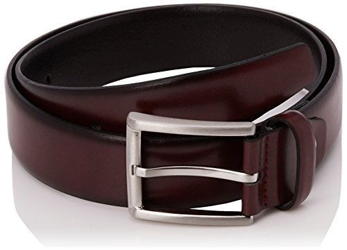 MLT Belts & Accessoires Herren Business-Gürtel London, Rot (Bordeaux 5000), 95 cm