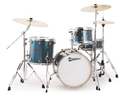 Premier Drums APK 6429956CBW Heritage Birch Series Schlagzeug-Set, 4-teilig, Cosmic Blue Sparkle