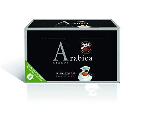 Caffè Vergnano 1882 Cialde Caffè Arabica, 6 confezioni da 18 cialde, filtro in carta (totale 108)