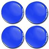 Biomar Labs® 4 x 50mm Adhesivo Pegatinas para Tapas de Rueda de Centro Tapacubos para Coche Azul A 850