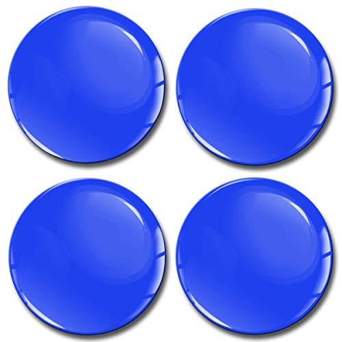 Biomar Labs 4 x 50mm Adhesivo Pegatinas para Tapas de Rueda de Centro Tapacubos para Coche Azul A 850