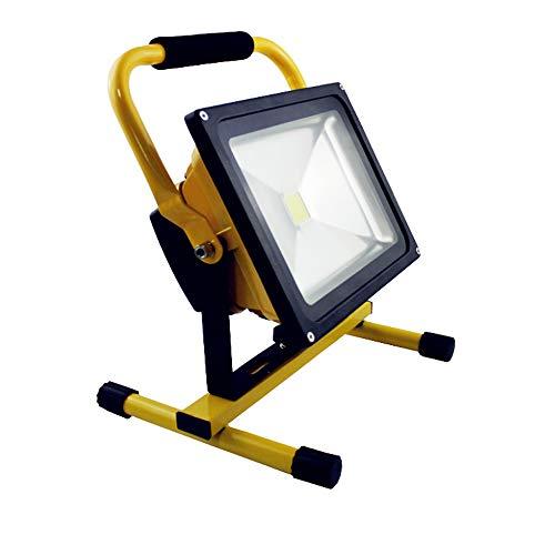 Hanllin Baustrahler LED Akku 30W Fluter Arbeitsleuchte Tragbar Strahler Flutlicht Werkstattlampen Scheinwerfer, Warmweiß