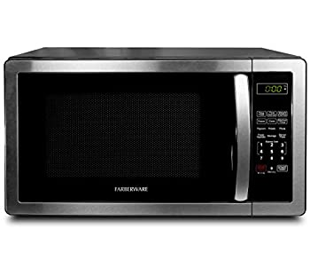 Farberware 1.1 Cu Ft Stainless Steel Countertop Microwave Oven with 6 Cooking Programs LED Lighting 1000 Watts
