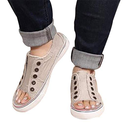 Sfit Damen Schuhe pee toe Pumps Lässige Freizeitschuhe Canvas Schuhe Dicke Untere Krawatte Seitlicher Lässige einzelne Schuhe Runde Zehe