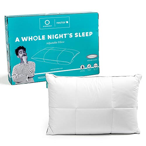 A Whole Night's Sleep | An Adjustable Gel Infused Memory Foam Pillow with Breathable Cooling Tencel Cover | Support for Back and Side Sleepers