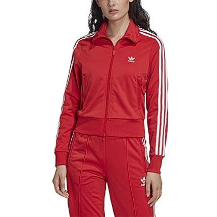 adidas Firebird TT Chaqueta con Cremallera, Mujer, Rojo (Lush Red), (Tamaño del Fabricante: 40)