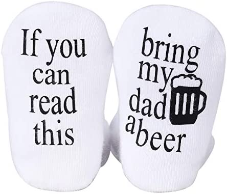 Udobuy Father s Day Gift Beer Gifts Baby Socks Baby Gifts Unisex Baby Gift Bring my Dad a Beer product image