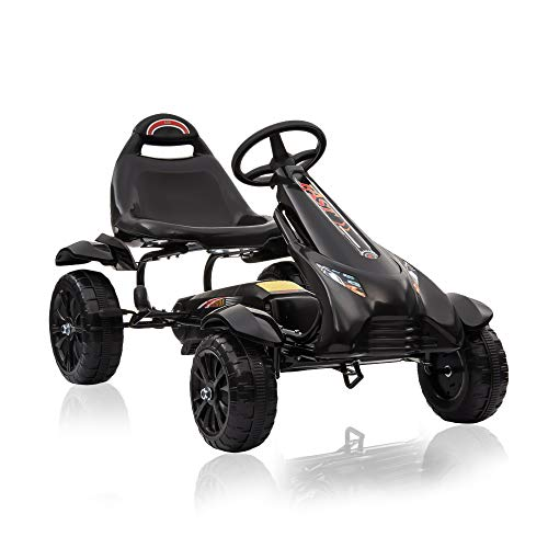 Regenboghorn Go-Kart, 9-Wheel Pedal, Outdoor Racer with Adjustable seat, Brake, Pedal car for Boys and Girls