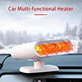 KATLY Portable heaters 360 ° Rotating, 12V car Cigarette Lighter, defroster, dehumidifiers, demister, Automatic overheating Protection 150 watts,White 12v