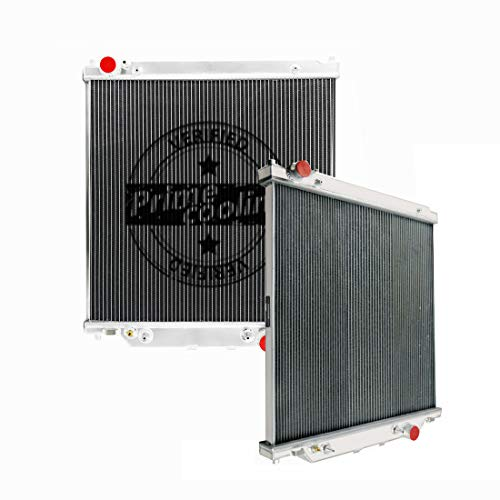 Primecooling 2 Row Aluminum Radiator for Ford F250 /F350 Super Duty,Excursion 2003-07 (6.0L V8 Turbo Diesel Powerstroke Engine)