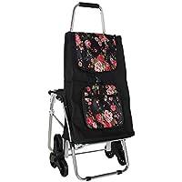 JCX Carritos de Compras portátiles Escaleras Que suben Carro de Utilidad fácilmente Plegable para Equipaje/Personal/Viaje/Automático/Mudanza y Uso de Oficina Capacidad de Viaje 45L