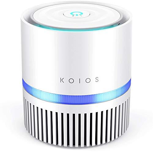 KOIOS Air Purifier, Desktop Air Filtration with True HEPA Filter,...