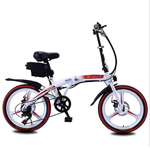 AYHa Bicicleta plegable eléctrico para adultos, 250W de motor sin escobillas 20 '' Eco-Friendly bicicleta eléctrica con extraíble 36V 8Ah / 10 Ah de iones de litio de 7 velocidades Shifter del freno