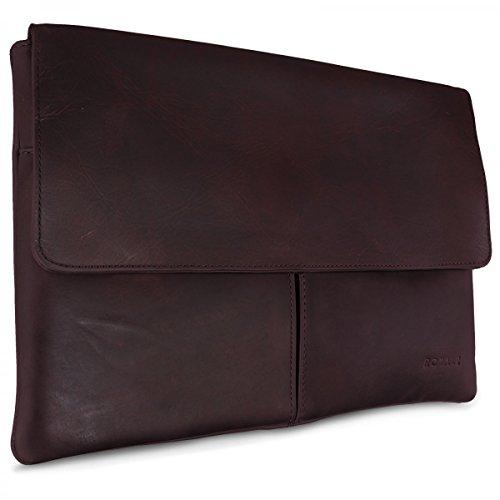 ROYALZ Universal Leder Schutztasche für Samsung Galaxy Note Pro 12.2 Tasche (SM-P900 / SM-P905) Ledertasche Retro Vintage Erscheinungsbild braun
