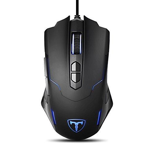VicTsing Gaming Mouse, Ratón para Gaming Alto Rendimiento, Professional Programable Ratón, Hasta 7200…