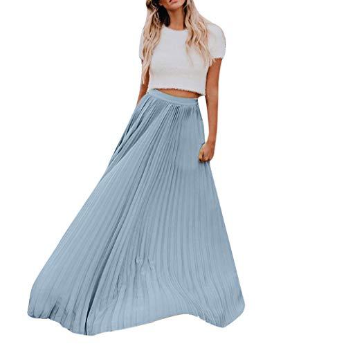Lulupi Gonne Lunga Maxi Pieghe Donna 2019 Estate Vintage Vita Alte Gonna Super Grande Avvolgente Elegante Spiaggia Dress