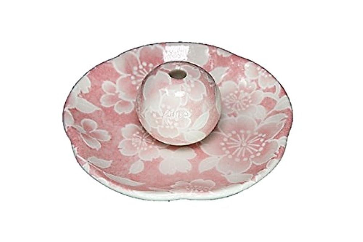 でる操作可能有効桜友禅 ピンク 花形香皿 お香立て 日本製 製造 直売品