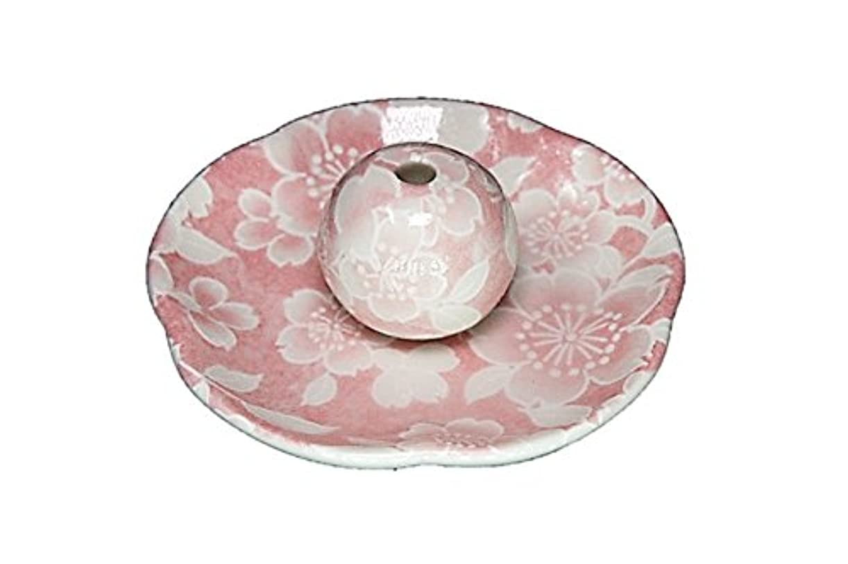 グレートオーク反逆者欠如桜友禅 ピンク 花形香皿 お香立て 日本製 製造 直売品