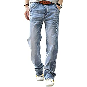 Men's Regular Fit Jean Loose Relaxed Straight Leg Jeans