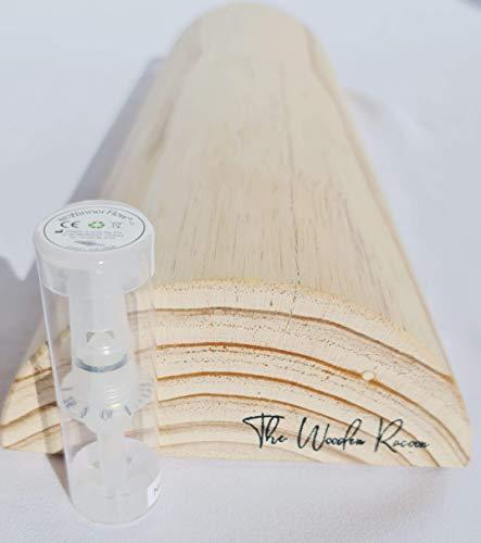 Winner Flow con Tronco propioceptivo de medidas oficiales 49.5 x 17 x 7,5 en madera de pino, para hipopresivos, 5p, eutonia, woodroller
