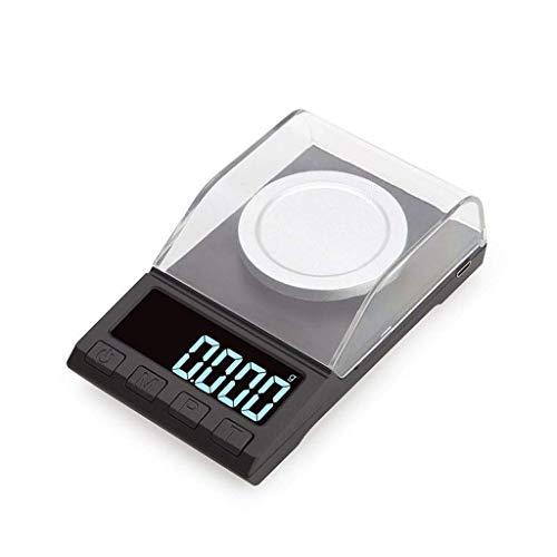 YGB Básculas Digitales multifunción 0.001g / 100g, Básculas de Bolsillo con Pantalla LCD Mini básculas portátiles de miligramos de joyería Inteligente (Tamaño: 50g / 0.001g)