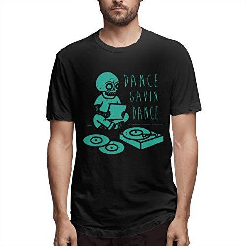 Fziee Tanzshirt für Herren, Baumwolle, kurzärmelig Gr. 58, Schwarz