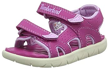 Timberland Unisex Kids' Perkins Row 2-Strap juniors Sandals Pink  Fuscia Rose G4d  8.5 UK 26 EU