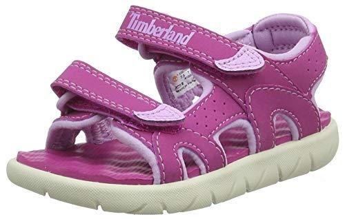 Timberland Perkins Row 2-Strap, sandale junior Descubierta Unisex niños, Rosa (Fuscia Rose), 24 EU
