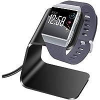 KIMILAR Cable Compatible con Fitbit Ionic Cargador, Aluminio Premium Reemplazo Estación de Carga Cargador Dock Soporte con 3,3ft para Fitbit Ionic Smartwatch (Negro)