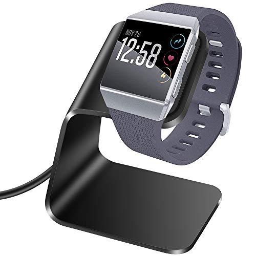 KIMILAR Oplader compatibel met Fitbit Ionic, Premium Aluminium Laadstation Laadkabel foor Fitbit Ionic