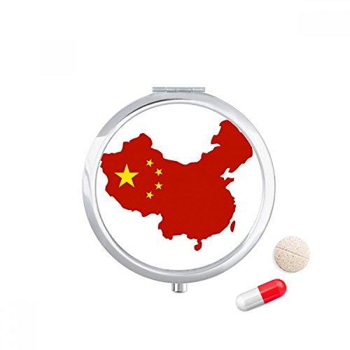 DIYthinker Made in China Map Nationale Vlag Reizen Pocket Pill case Medicine Drug Storage Box Dispenser Spiegel Gift