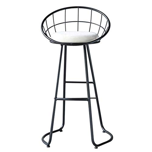 ESGT Taburete De Bar Moderno Taburetes De Bar De Altura De Mostrador De Cocina Taburete De Bar Silla De Comedor con Respaldo En Patas De Metal Silla Alta