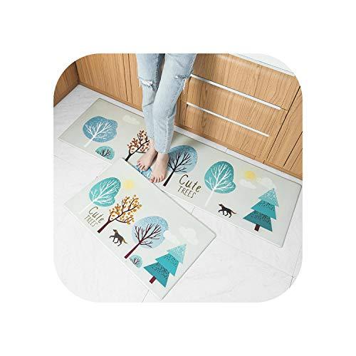 Big Incisors Indoor Ultra Soft |Neue Moderne weiche PVC-Türmatte Anti-Rutsch-weiche nordische Mode Teppiche Teppich für Küchenmatte Küchenteppich Zarter Boden-2-45X75cm