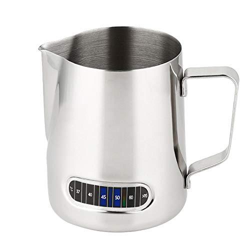 600ml Bricco Latte Lattiera per in Acciaio Inossidabile con Termometro